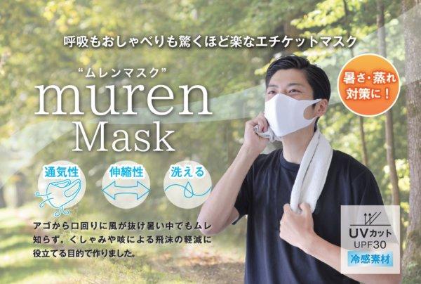 【医療用品メーカーが開発】蒸れにくいマスク murenMask(ムレンマスク)下部に息を逃す隙間を設けた、呼吸もおしゃべりも驚くほど楽なエチケットマスク。の画像