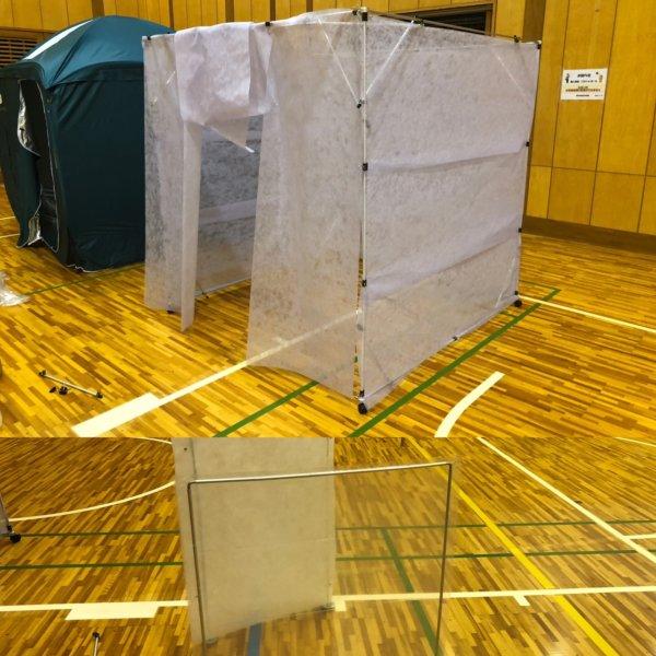 コロナ渦の災害時飛沫感染対策に!通気性のある避難所用不織布パーテーション「エアトーレ+」の画像