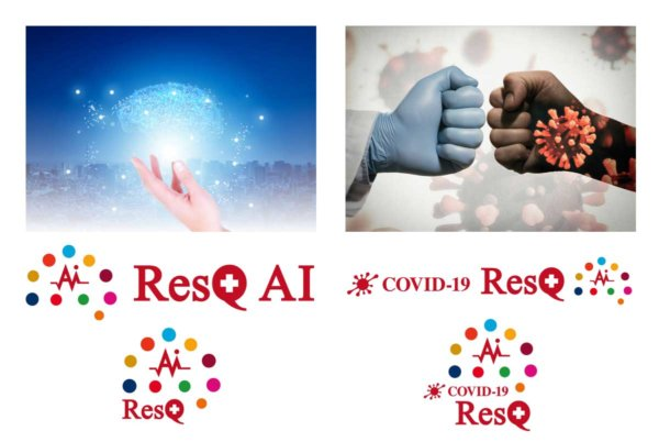 新型コロナウィルス感染拡大から、生命と社会・経済を守る!~人工知能「ResQ AI」および「COVID-19 ResQ」のロゴを作成~の画像