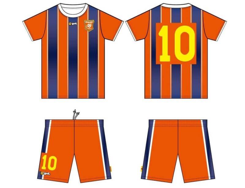 南紀オレンジサンライズFCのユニフォームサプライヤーならびにホームユニフォームのデザインが決定!の画像